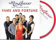 MON AMOUR - Fame and fortune / BZN MEDLEY CD SINGLE 2TR CARDSLEEVE 2009 HOLLAND