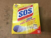 S.O.S. Steel Wool Soap Pads 10 pads SHELFPULL