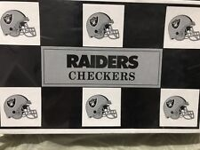 Big League Promotions Corp. Oakland Raiders Checkers NIB Factory Sealed