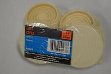 "Shepherd #89167 - 1 3/4"" round rubber furniture cups- Off White-2 pkg- 8 cups."