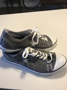Converse One Star Grey Gray Shoes Mens Size 12 Low Top Ankle Cut - Used/Near New