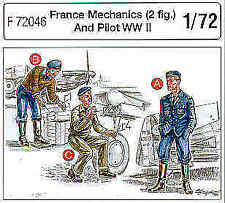 Czech Master 1/72 2 French Pilots WWII + Mechanic # F72046