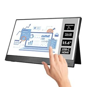 "electriQ eiQ-15FHDPMT 15.6"" IPS Full HD HDR Touch Screen USB-C Portable Monitor"