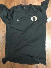 Brand New University Of Oregon Nike Dri Fit Long Sleeve Black Size Large