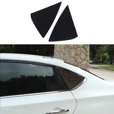 2PCS For Nissan Sentra 2016-2019 Black titanium Vent Window Scoop Louver Trim