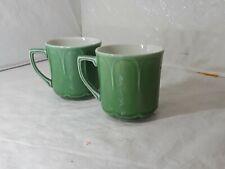 J & G Meakin England Living Green Tea Cups/ Coffee Mugs