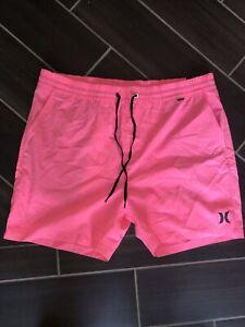 Men's Pink Hurley Swim Trunks- Size XL