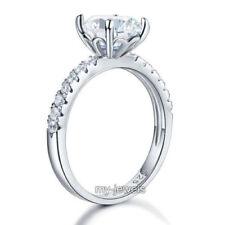 Anillos de joyería con gemas en plata de ley de boda