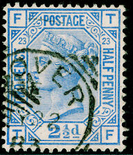 Sg157, 2½d blue plate 23, good used, CDS. Cat £32. TF