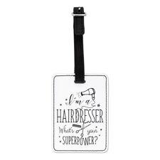 Soy una peluquería? cuál es su superpotencia visual Etiqueta Del Equipaje Maleta Bolsa-Gracioso