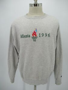 M0363 VTG Champion Embroidered USA Olympics Atlanta 1996 Sweatshirt Size XL