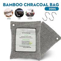 2/4/6/8X Natural Bamboo Air Purifier Deodorizer Bag Activated Charcoal Car Fresh