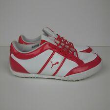 PUMA MonoLite Cat Spikeless Golf Shoes White Raspberry Women's Size 9