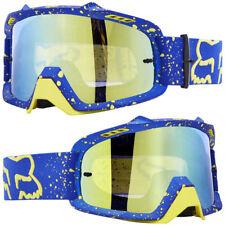 Defensa aérea Fox Motocross MX Gafas Cam Sinclair Azul Con Oro Espejo Tear-off