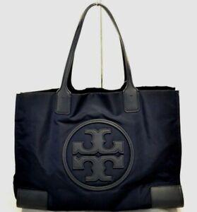 TORY BURCH Ella Large Black Nylon/Leather Handbag $198.00v#510SW