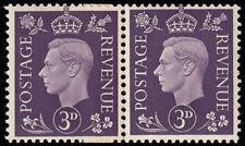 SG467var 1938 3d. Violet, coil join pair, unmounted original gum. Scarce.