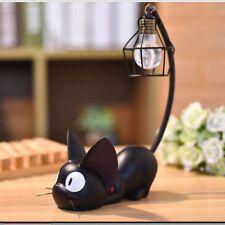 Mini Cat Desk Lamp Stand Gift Home Decor Ornament Room Figurines Small Black New