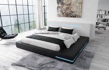 Designerbett Rimini mit LED Beleuchtung Polsterbett Luxusbett Bett Kunstleder