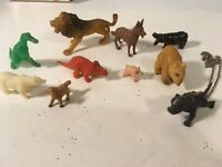 Lot Of Vintage Mini Plastic Animals