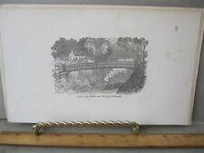 Vintage Print,VIEW ON DUBLIN+DROGHELA,Pictorial Scrapbook,1850-60,Wright