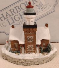 Harbour Lights - Big Bay Point, Michigan - 1st Christmas Sculpture - Signed -VGC