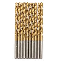 "15/32""x5-3/4"" Titanium Drill Bits Set HSS Jobber Length Metal Drill Bit 10 Pack"