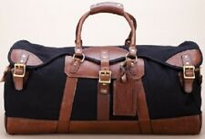 NEW Burke & Wills Men's Canvas/Leather Weekend Duffel Bag... LOWEST PRICES