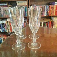 "4-JMP Capri Fluted Champagne Glasses Vintage ""Elegant"" Crystal Made in Italy"