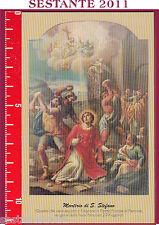 455 SANTINO HOLY CARD MARTIRIO DI SANTO S. STEFANO PUTIGNANO