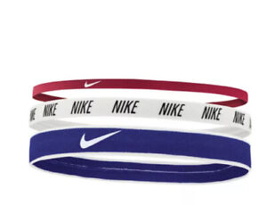 Nike Mixed Width Printed Hairbands/Headbands Assorted 3 Pack New