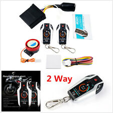 Motorcycle Anti-theft Alarm Security System Remote Control Engine Start PKE 2Way