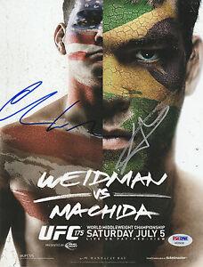 CHRIS WEIDMAN LYOTO MACHIDA SIGNED AUTO'D MINI POSTER PHOTO PSA/DNA COA UFC 175