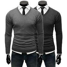 Herren-Pullover & -Strickware mit V-Ausschnitt aus Baumwolle ohne Verschluss