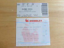DIANA ROSS 2 x USED TICKETS FROM WEMBLEY ARENA CONCERTS MAY 1989 AND JUNE 1992