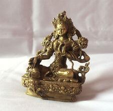 "Tibetan Green Tara 3"" H Statue"