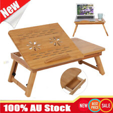 Wooden Bamboo Laptop Table Folding Writing Stand Desk Bed Book Reading Tray AU