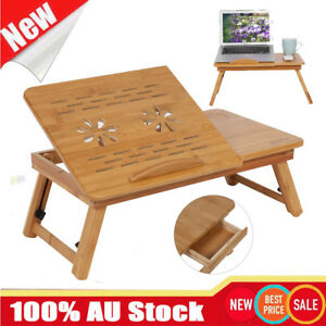 Bamboo Laptop Table Folding Writing Stand Desk Bed Book Reading Tray AU SHIP NEW