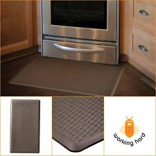 KITCHEN FLOOR MAT 20'' x 36'' Comfort Padded Anti Fatigue Foam Indoor Rug Brown
