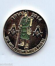 1914-2014 100th Anniversary WW1  MASONIC  PENNY ENAMELED TOKEN