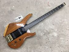 80's Washburn Status 1000 Series Headless Electric Bass Guitar Natural