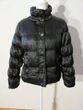 S7216 Anne Klein Womens Medium Black Soft Shiny Full Zip/Snap Down Puffer Jacket