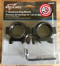 "Excalibur Crossbow Scope Rings 1"" - Ring Mounts for Crossbows 1 inch"