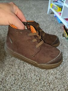 """Stride Rite M2P """"Crawford"""" boys sz. 7 wide brown ankle shoe boots. Fantastic, gr"""