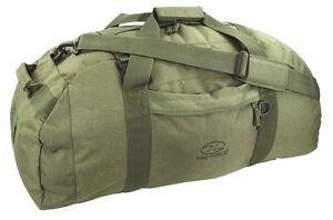 BASE CAMP DUFFLE BAG 65 Litre Military loader waterproof kit army rucksack OLIVE