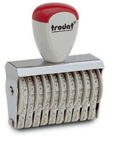 Trodat Classic Line Numbering Stamps Various Sizes and Number of Character Bands