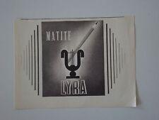 advertising Pubblicità 1946 MATITE LYRA