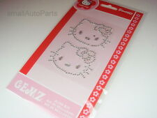 2 Hello Kitty Bling gem kit Diamond Rhinestones Decal Stickers for car/truck/suv