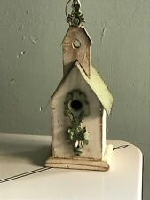Decorative Wood And Metal Miniature Birdhouse