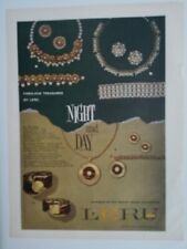 1957 Leru night and day necklace bracelet earrings vintage jewelry ad