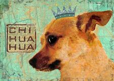 CHIHUAHUA CHI DOG Print Poster Vintage Dog Art signed Wendy Presseisen